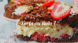 SURPRESA DE MORANGO - É TORTA OU BOLO ??