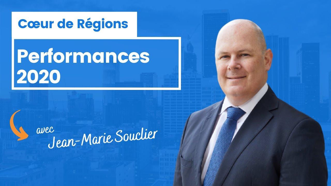 Cœur de Régions : performances 2020