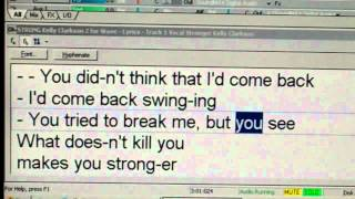 Karaoke Stronger Kelly Clarkson What Doesn't Kill You  will make you Stronger with Melody
