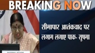 India and US Warn Pakistan in a Joint Press Conference of Sushma and Kerry