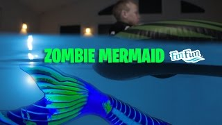 "Zombie Mermaid - Fin Fun Halloween Special ""Blacklight Mermaid Tail"""