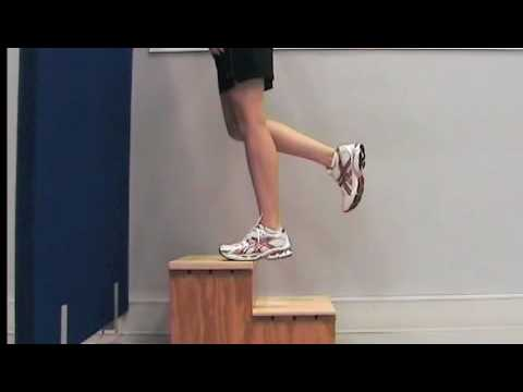 Exercises for Achilles tendinopathy (1 - knee straight)
