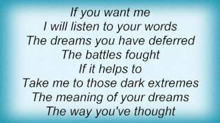 Morten Harket - Listening Lyrics