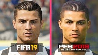 FIFA 19 vs PES 2019 | Juventus Players Faces Comparison