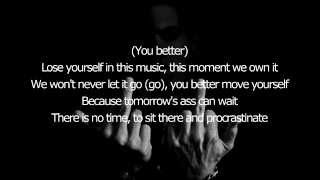 Eminem - Lose Yourself Demo Original Song (Lyrics on Screen) [1080p]