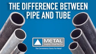 The Difference Between Pipe and Tube