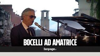 Terremoto, Bocelli canta l'Ave Maria di Schubert ad Amatrice