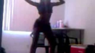 Kandie danceing to  r kelly slow wine