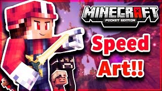 Speed Art!! | MineCraft PE GFX Competition Entry!