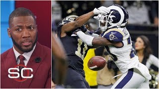 Rams beat Saints after controversial missed pass interference call | SportsCenter width=