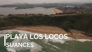 Playa de Los Locos ( Suances  - Cantabria ) a vista de drone