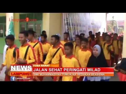 lampung1.com-Jalan Sehat, SMK Muhammadiyah Tumijaj