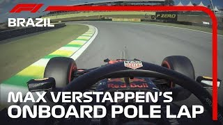Max Verstappen's Onboard Pole Lap | 2019 Brazilian Grand Prix | Pirelli