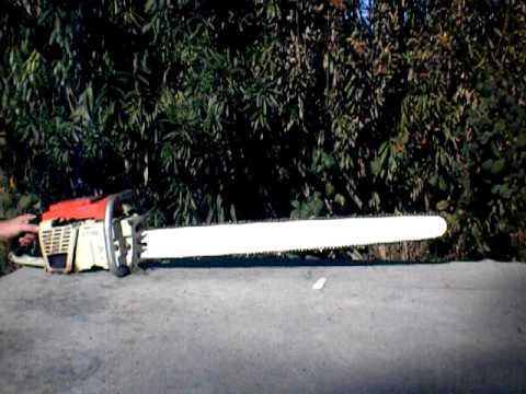 Vintage Stihl 075 AV Chainsaw test run.