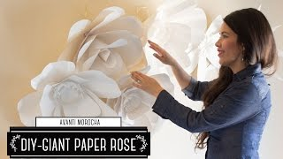 "DIY How to Make a Paper Flower Backdrop ""Rose"" / Como Hacer un Mural de Flores de Papel ""Rosa"""