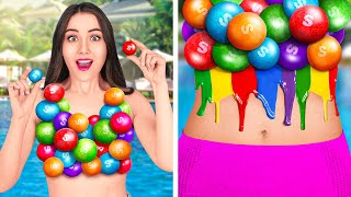 HOW TO SNEAK FOOD FROM ANYONE    Funny DIY Ideas! Cool Hacks and Snack Situations by 123 GO! FOOD
