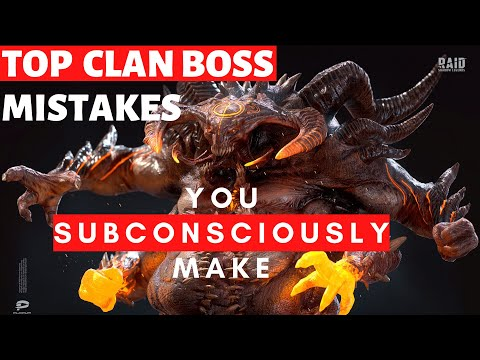 Clan Boss Mistakes to Avoid + Tips for Success I Raid Shadow Legends