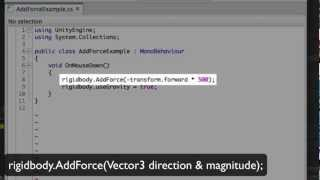AddForce - Unity Official Tutorials