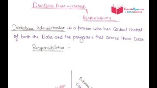 16- Responsibilities Of Database Administrator In DBMS In HINDI | Role Of DBA In DBMS In HINDI width=