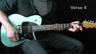 O Praise The Name (Anastasis) Hillsong Worship Lead Guitar Tutorial