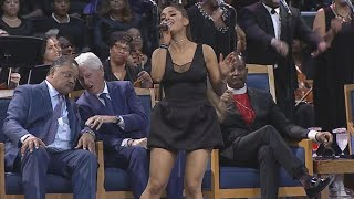 Ariana Grande Performs at Aretha Franklin's Funeral