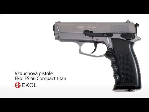 Vzduchová pistole Ekol ES 66 Compact chrom