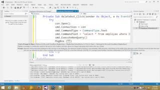 Visual Basic Net Tutorial with MySql database 11 Delete data from database