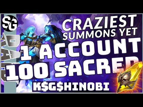 RAID SHADOW LEGENDS | 1OO SACRED, 1 ACCOUNT, RAINING LEGOS! CRAZIEST SUMMONS EVER! UNBELIEVABLE!