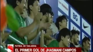 Primer gol de Jhasmani Campos en la liga de Tailandia