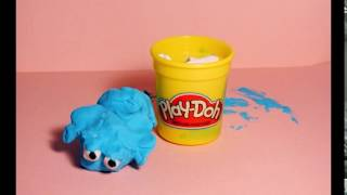 The Blue playdoh with a dream  - Stop motion photography