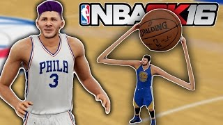 15FT vs 1 FT - Giant Players VS Tiny Players - NBA2K16 Mod Challenge!