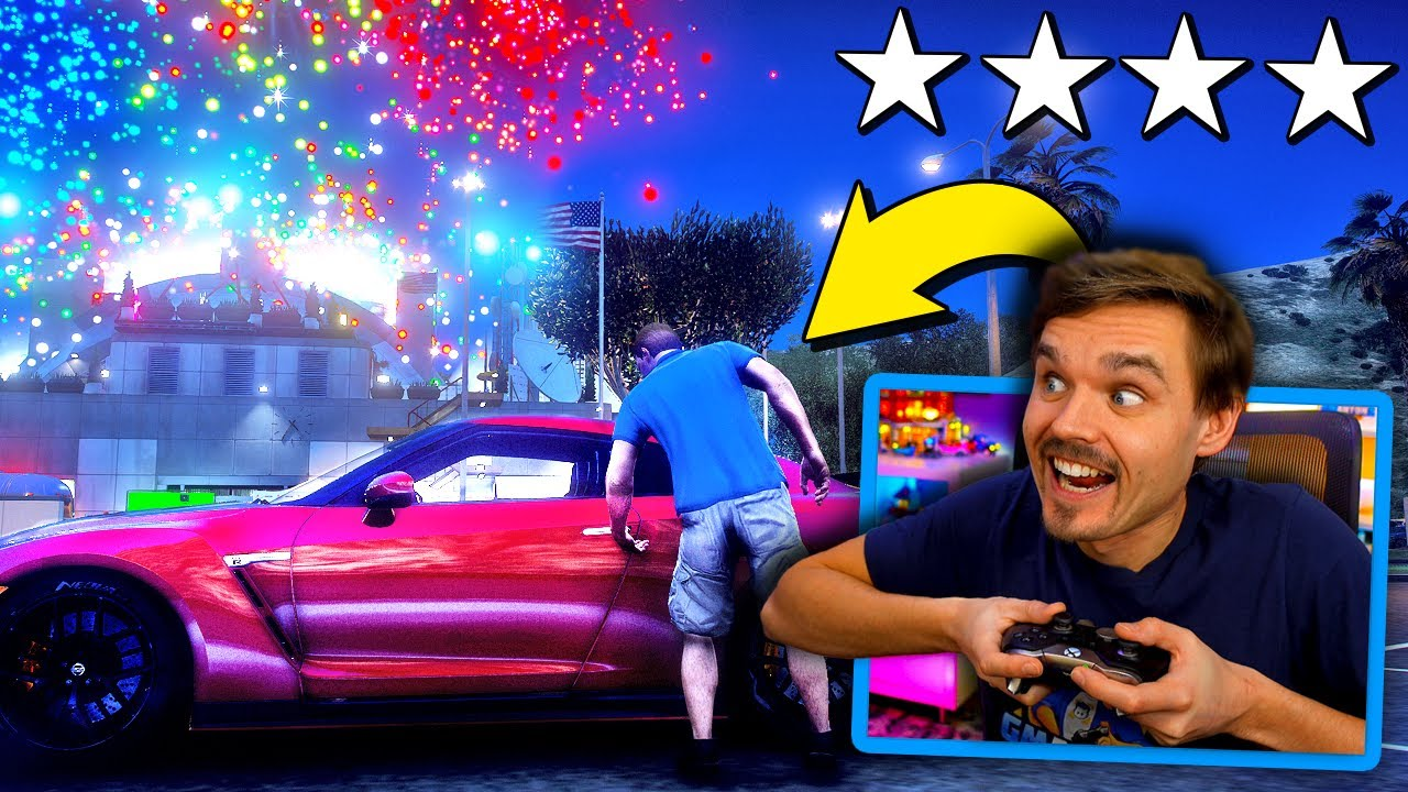 GMAntonZ - In GTA 5... Stealing LUXURY GTR during fireworks show! (Mods) #GTA5Mods