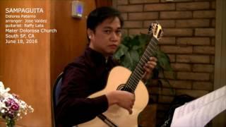 Sampaguita (Live) - D. Paterno (arr. Jose Valdez) Solo Classical Guitar