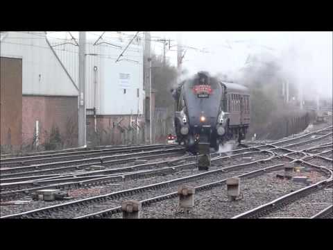 60009 Union of South Africa at Carlisle withThe Winter Cumbrian Mountain Express on 9th Feb 2013.wmv