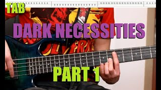 RHCP - Dark Necessities (part 1) Bass lesson with Tabs