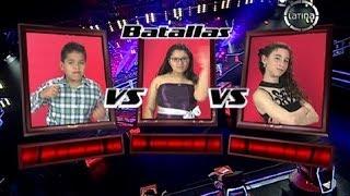 """Eduardo, Adela y Ariana cantan """"Color Esperanza"""" - La Voz Kids Perú - Batallas - Temporada 1"""