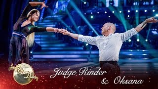 Judge Rinder & Oksana Platero Rumba to 'Lean On Me' by Bill Withers - Strictly Come Dancing 2016
