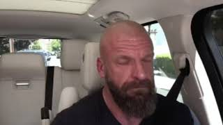 Stephanie Mcmahon and Triple H sing at an episode of Carpool Karaoke