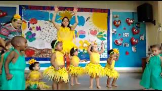 Crianças faz apresentação da música girassol