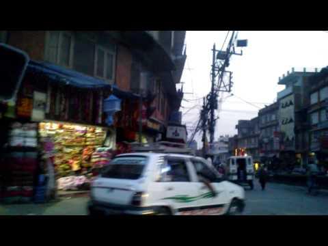 street scene in Kathmandu Nepal