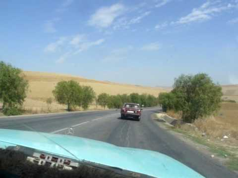 Driving through Fes countryside