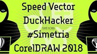 Duck Hacker com Simetria no CorelDRAW 2018 SpeedArt