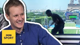 Workman interrupts BBC's Euro 2016 filming - TV fails - BBC Sport