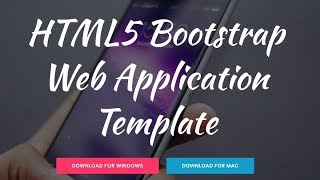 Free Bootstrap Web Application Template