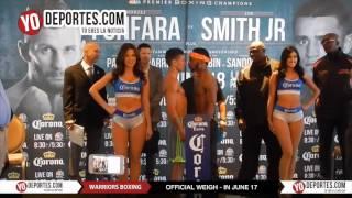 Warriors Boxing weigh- in June 17