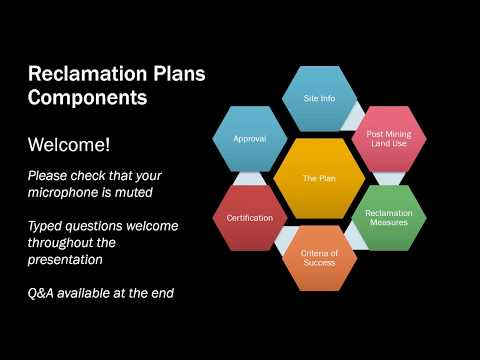 Components of Mine Reclamation Plans Webinar