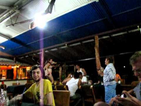 Tabletop Dancing at Ometepe's Chaco Verde Inn Nicaragua