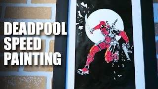 Deadpool Speed Painting | Mad Stuff With Rob