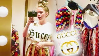 INSIDE The GUCCI Store Dressing Room! width=