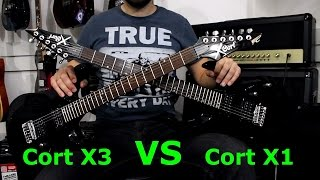 Cort X1 VS Cort X3 - Guitar Battle #1